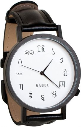 Tower of Babel Multi Language Unisex Analog Watch. The Unemployed Philosopher's Guild
